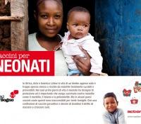 Cartolina Vaccini per neonati